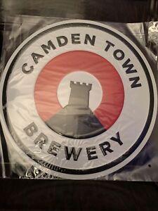 CAMDEN TOWN BREWERY LARGE METAL SIGN  / 40cm X 40cm , MAN CAVE / PUB FREE P&P