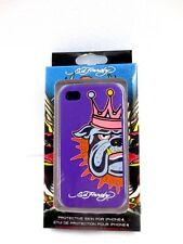 ED HARDY English bulldog  crown Design iPhone 4 32gb 16gb Protective Skin CASE