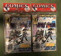 Lot of 2 G.I. Joe 2, 26, 27 High Grade Unopened Comic 3 Pack Marvel 1984 VF-NM