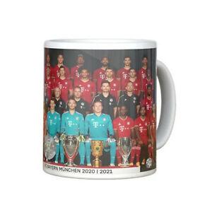 Tasse Team 2020/21 FC Bayern München Kaffeebecher Keramik 26159 FCB Fanartikel