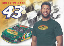"2018 BUBBA WALLACE ""ECKRICH"" #43 NASCAR MONSTER CUP HERO CARD POSTCARD"