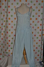 SEXY 2 pc PETRA CLOUD Women`s S Jr BLUE CAMI & LOUNGE PANTS Nighty USA EUC