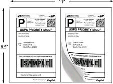 Premium Half Sheet Self Adhesive Shipping Labels 8.5 X 5.5 inches 200 Pack