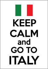 KEEP CALM AND GO TO ITALY - Italian / Europe Vinyl Sticker 14.5cm x 20 cm