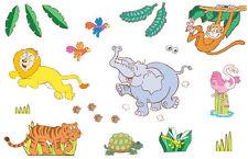 FunToSee Wandsticker Wandtattoo Dschungel-Safari Babyzimmer Kinderzimmer
