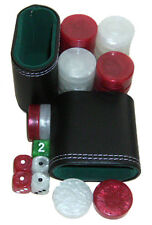 Backgammon Accessori Set. 30 media dama, dadi, Cubo, 2 TAZZE. GRATIS P&P UK