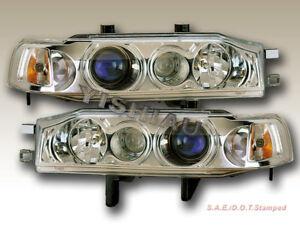 Headlights Headlamps Pair Left right set for 90-91 Honda Accord