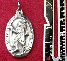 Vintage 1957 Engraved Father Philip J. Grib, SJ Sterling Silver St. Christopher