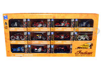 """11 pieces of """"Indian Motorcycle"""" Diecast Motorcycle Models 1:32 New Ray 2.5 inch"""