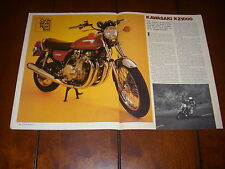 1977 KAWASAKI KZ1000 MOTORCYCLE TEST  - ORIGINAL ARTICLE