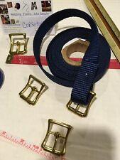 "4,6,8 Brass bridle middle bar Non-roller 1"" buckle halter harness hardware bag"