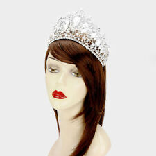 Glass Crystal Beauty Pageant Queen Tiara