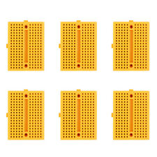 6Pcs Breadboard Mini 170 Tie Point PCB Solderless For  With Hole Blue UK