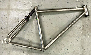 "SEVEN ""Teres"" 26"" wheels titanium frame ealstomer rear canti or disc 59.5cm tt"