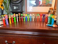 RARE Pez Dispensers Lot Of 22 VINTAGE 1970's to Early 2000's BUNDLE collection