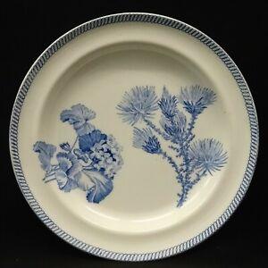 Antique 19thC WEDGWOOD Blue Transferware Botanical Series PLATE c1810-20