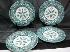 4 Williams Sonoma Veracruz Melamine Picnic Salad Plates Turquoise New Child Safe