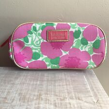 """Lilly Pulitzer Makeup Bag & Mirror Toiletries for Estee Lauder Pink Poppy 8.5"""" L"""