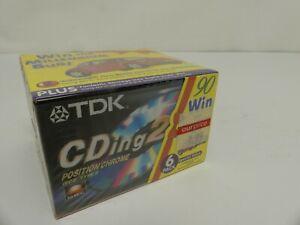 (ref288CN) TDK CDING2-90EC Cassettes x 6