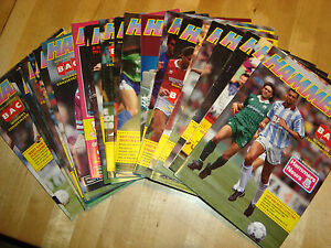 Full season of West Ham 1991-92 home programmes - 28 in all