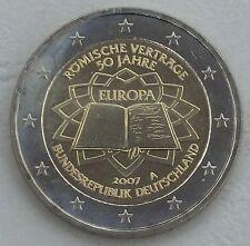 2 Euro Deutschland A 2007 Römische Verträge unz