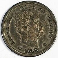 1883 HAWAII Dime - Full Detail & Natural Color - High Quality Scans #C952