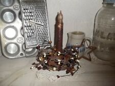 Primitive Country Decor Candle Holder Berries