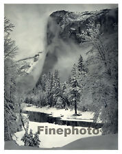 1949 Vintage YOSEMITE California EL CAPITAN Winter Landscape Snow By ANSEL ADAMS