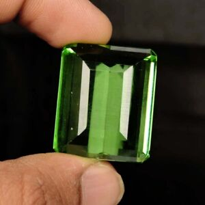Brazilian Green Amethyst 94.35 Ct. Faceted Emerald Cut Loose Gemstone SR-55