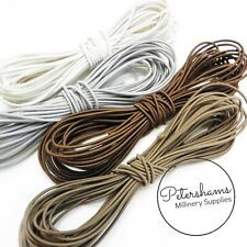 Round 1.5mm Hat Elastic for Fascinators & Millinery - 10 Colours Available!
