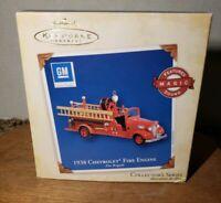 2005 Hallmark Magic 1938 Chevrolet Fire Engine Keepsake Ornament