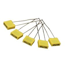 50pcs 10 Value Polypropylene Safety Plastic Film Capacitor (1nF-0.47uF) R7E6