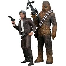 KOTOBUKIYA Sw120 ARTFX Star Wars Han Solo & Chewbacca 1/10 Scale Set 2 Figure