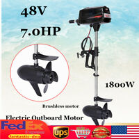 USA 48V Electric Outboard Trolling Brushless Motor Fishing Boat Engine 1800W NEW