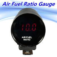 37mm 12V Red LED Air Fuel Ratio Gauge Meter Pointer AFR Digital Smoked Len Black