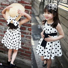 1PC Kids Children Clothing Polka Dot Girl Chiffon Sundress Dress Cheap US NEW