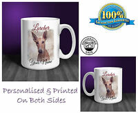 Lurcher Personalised Ceramic Mug: Perfect Gift. (D134)