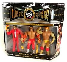 WWE Classic Superstars BRUTUS BEEFCAKE HULK HOGAN JIMMY HART Set 3 Jakks Pacific