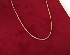 21ct Rope Necklace Chain 21k Solid Gold 24inch 60cm 2.81g Mens Womens