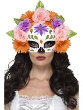 Maschere multicolori plastici marca Smiffys per carnevale e teatro