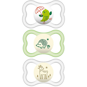 MAM Sensitive Skin Pacifiers, Baby Pacifier 16+ Months, Best Pacifier for Air &