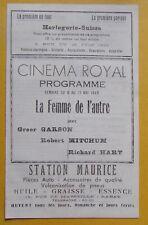 programme MAROC RABAT Cinéma Royal film La femme de l'autre - 1949