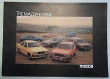 MAZDA RANGE orig 1980 UK Mkt Sales Brochure - RX7 Montrose 2000 B1800 Hatchback