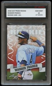 WANDER FRANCO 2018 / '18 LEAF PRIZED 1ST GRADED 10 ROOKIE CARD RC TAMPA BAY RAYS