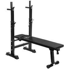 Banco de pesas soporte para barra musculación entrenamiento gimnasi plegable nue