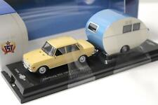 1:43 Cars&Co IST Wartburg 353 Sedan 1967 + Würdig 301 Caravan Wohnwagen