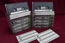 【ツ】⏏️ 10x TDK SA-X 90. Free shipping . vintage Kassetten . Chrome Cassettes