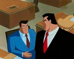BRUCE TIMM rare BRUCE & CLARK cel SUPERMAN Worlds Finest Part 1 BTAS STAS COA