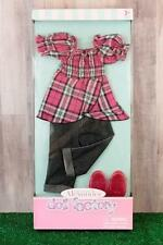 "Madame Alexander Doll Factory Pink Plaid Top with Jeans Outfit for 18"" Dolls NIB"