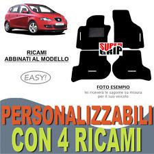 TAPPETINI AUTO SU MISURA PER SEAT ALTEA MOQUETTE E FONDO GOMMA + 4 RICAMI EASY